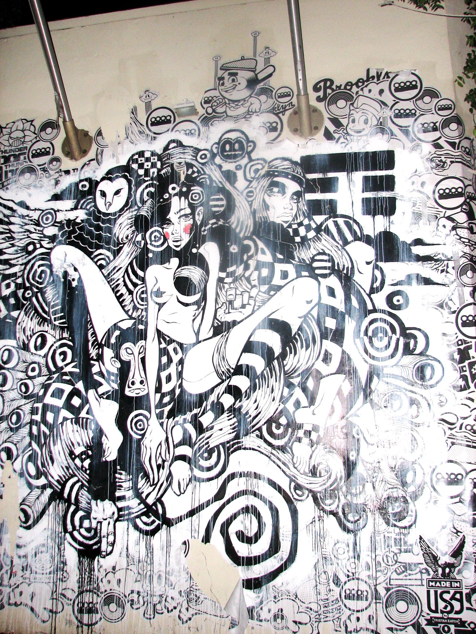 Fabuleux Miami Urban Street Art & Graffiti Part One: Artists Sever & Willow  QW48