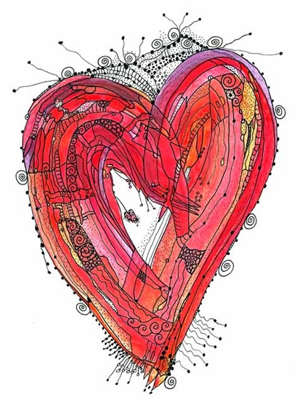 Illustrated Heart Art Prints By Ingrid Padilla Art Nectar