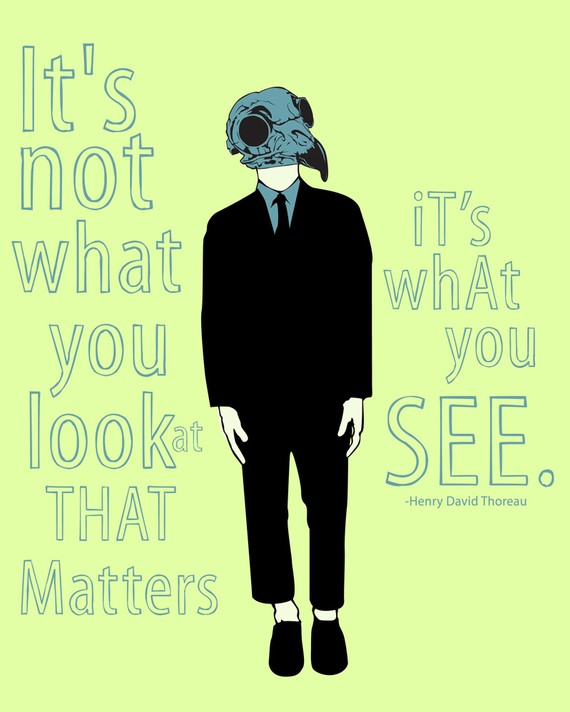 Inspirational Art Print: It's Not What You Look At | Art Nectar Horror Film Photography