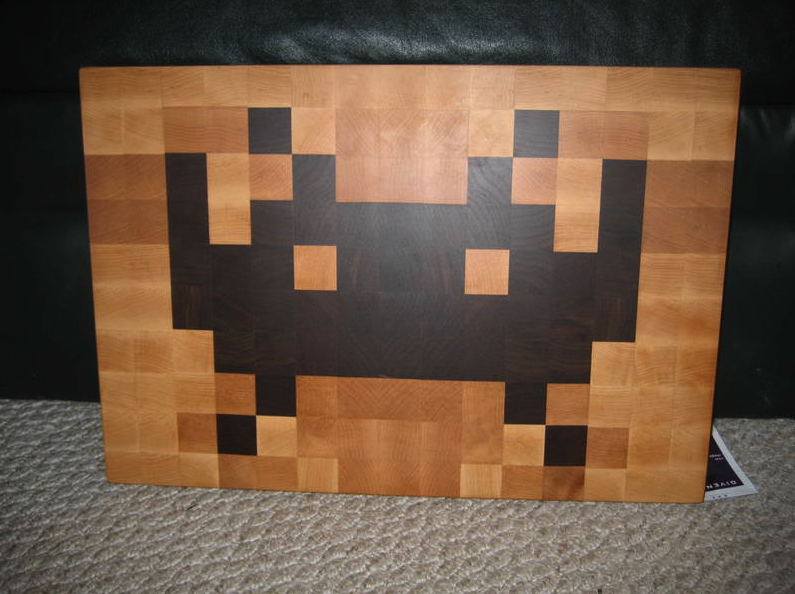 Product Design: Space Invader Cutting Board | Art Nectar