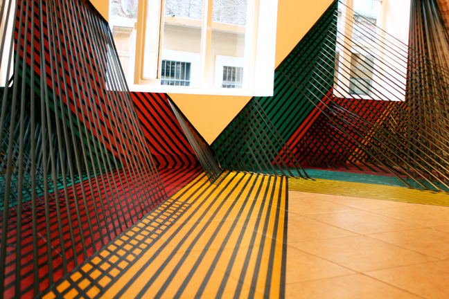 Electrical Tape Installations By Rebecca Ward Art Nectar