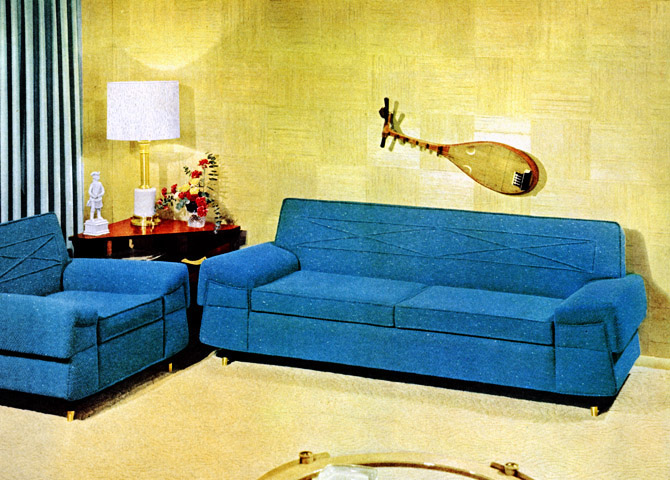 a look at 1950 s interior design art nectar. Black Bedroom Furniture Sets. Home Design Ideas