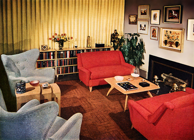 A look at 1950 s interior design art nectar - 1950 s living room decorating ideas ...