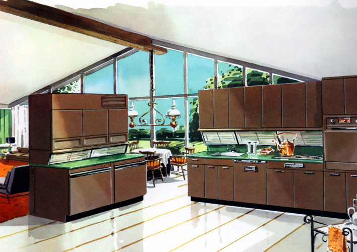 A look at 1950 s interior design art nectar for Modern 50s style kitchen