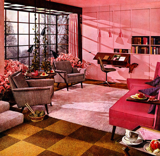 A look at 1950 s interior design art nectar for Apartment design retro