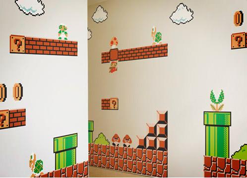 Cool products nintendo game wall graphics art nectar - Pinturas decorativas para salones ...