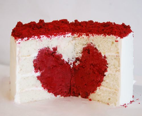 Valentines Cake on Valentine   S Day Heart Cake   Art Nectar