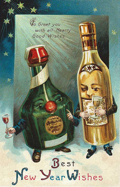 vintage new years postcards you