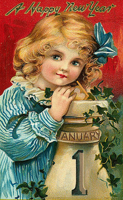 Design: Vintage New Years Postcards   Art Nectar Vintage New Years Images