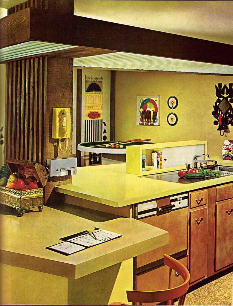 Kitchen Room Interior Design: A Look At 1960′s Interior Design