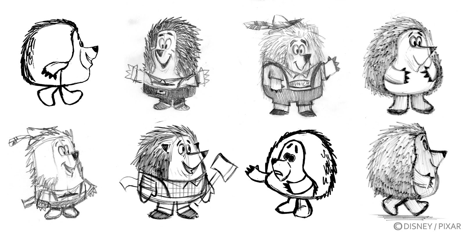 Pixar Character Design Process : Pixar artist nate wragg toy story illustrations and
