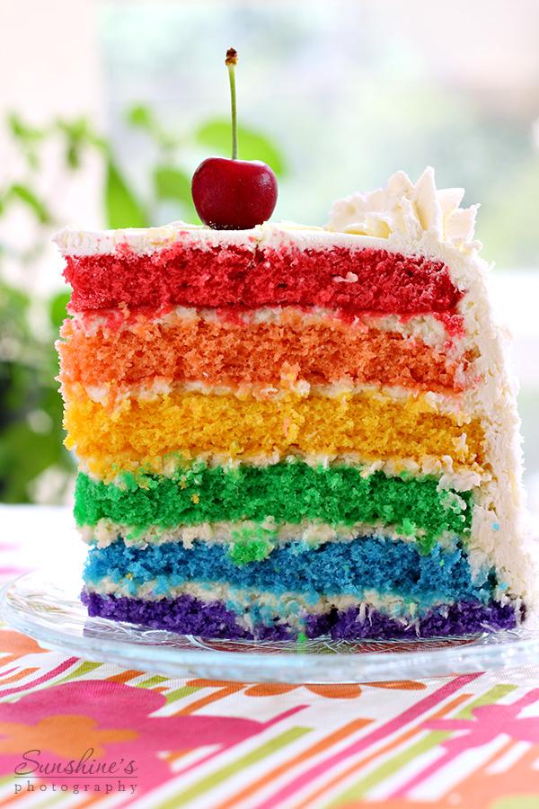 Как сделать коржи для разноцветного торта 710