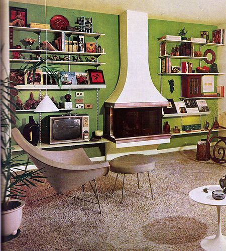 A look at 1960 s interior design art nectar for 70s apartment design