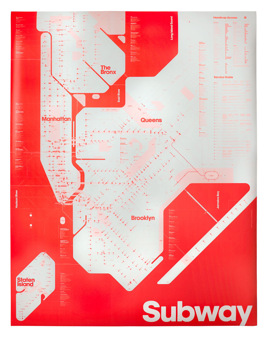 Design: Limited Edition Fluorescent Red New York City