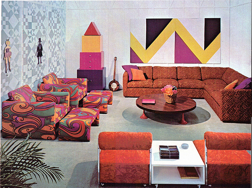 A look at 1960 s interior design art nectar for Home design 60s